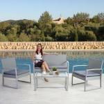 2-1-1 Poly-Rattan Garten-Garnitur Siana, Sitzgruppe incl. Kissen, extra breite Sitze
