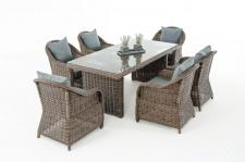 Garten-Garnitur CP071, Sitzgruppe Lounge-Garnitur Poly-Rattan