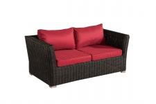 2er Sofa 2-Sitzer Sousse Poly-Rattan