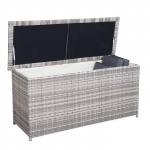 Poly-Rattan Kissenbox HWC-D43, Truhe Auflagenbox Gartentruhe, 63x135x52cm 290l