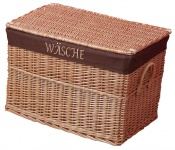 Wäschekorb H120, Wäschesammler Weidenkorb, handgeflochten