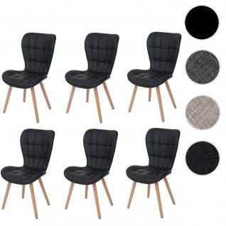 6x Esszimmerstuhl HWC-A87, Stuhl Lehnstuhl, Retro 50er Jahre Design