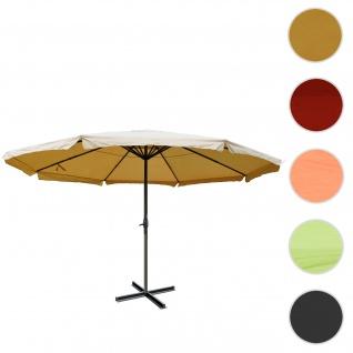Sonnenschirm Meran Pro, Gastronomie Marktschirm mit Volant Ø 5m Polyester/Alu 28kg