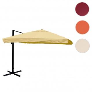 Ampelschirm HWC-A96, Gastronomie, 3x3m (Ø4, 24m) Polyester Alu/Stahl 23kg