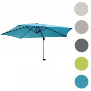 Wandschirm Casoria, Ampelschirm Balkonschirm Sonnenschirm, 3m neigbar, Polyester Alu/Stahl 9kg