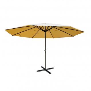 Sonnenschirm Meran, Gastronomie Marktschirm ohne Volant Ø 5m Polyester/Alu 28kg