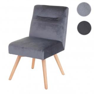 Esszimmerstuhl HWC-F38, Stuhl Küchenstuhl, Retro Design Samt