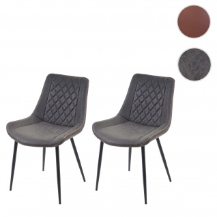 2x Esszimmerstuhl HWC-E56, Stuhl Küchenstuhl, Vintage