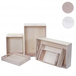 6er Set Holzbox HWC-C20, Dekokiste Aufbewahrung Holzkiste, Shabby-Look Vintage