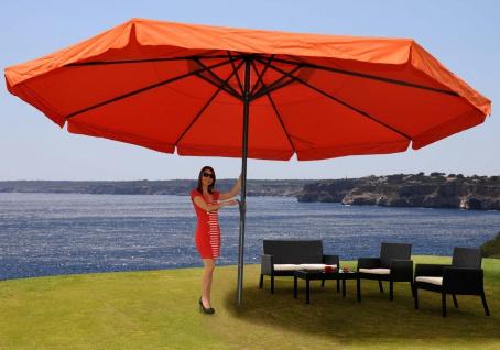 Alu-Sonnenschirm Meran Pro mit Volant Ø 5m