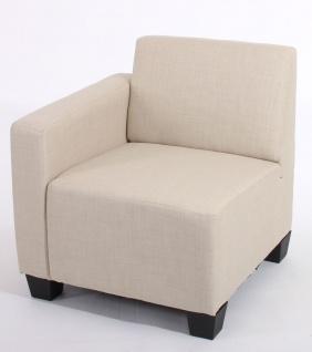 Modular Sofa Lyon Stoff/Textil creme