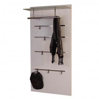 Garderobenpaneel H72, Wandgarderobe Garderobe Kleiderhaken, 120x60x26cm