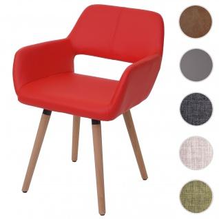 Esszimmerstuhl HWC-A50 II, Stuhl Lehnstuhl, Retro 50er Jahre Design