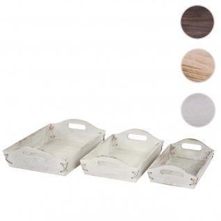 Spiegeltablett Serviertablett Dekotablett Tablett Holz Glas Shabby Chic