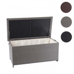 Poly-Rattan Kissenbox HWC-D88, Gartentruhe Auflagenbox Truhe - Vorschau 5