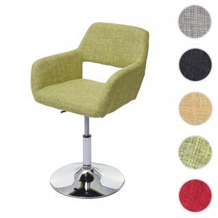 Esszimmerstuhl HWC-A50 III, Stuhl Küchenstuhl, Retro 50er Jahre, Stoff/Textil