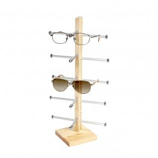 Brillenständer Vendee, Brillenhalter Brillendisplay für 5 Brillen, 42x20cm