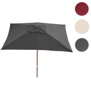 Sonnenschirm Florida, Gartenschirm Marktschirm, 3x4m Polyester/Holz 6kg - Vorschau 1