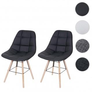 2x Esszimmerstuhl HWC-A60 II, Stuhl Lehnstuhl, Retro 50er Jahre Design