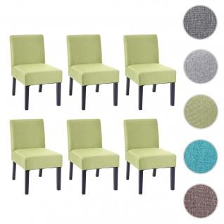 6x Esszimmerstuhl HWC-F61, Stuhl Lounge-Stuhl, Stoff/Textil