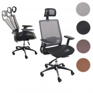 Bürostuhl HWC-A20, Schreibtischstuhl, ergonomisch Kopfstütze Stoff/Textil ISO9001