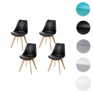 4x Esszimmerstuhl HWC-E53, Stuhl Küchenstuhl, Retro Design
