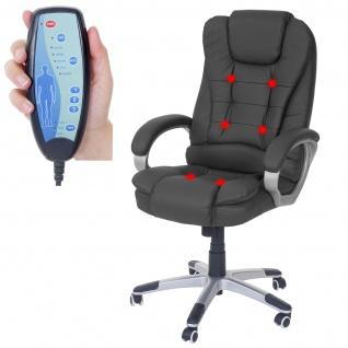 Massage-Bürostuhl Blackburn, Massagestuhl Drehstuhl Chefsessel, Kunstleder