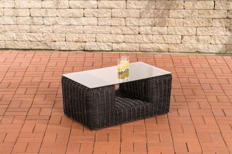Gartentisch CP055, Beistelltisch Poly-Rattan