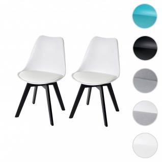 2x Esszimmerstuhl HWC-E53, Stuhl Küchenstuhl, Retro Design