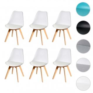 6x Esszimmerstuhl HWC-E53, Stuhl Küchenstuhl, Retro Design