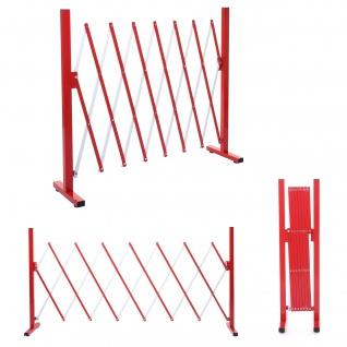 Absperrgitter HWC-B34, Scherengitter Zaun Schutzgitter ausziehbar, Alu rot-weiß