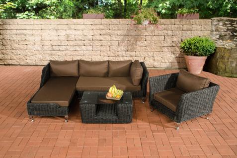 Sofa-Garnitur CP055, Lounge-Set Gartengarnitur, Poly-Rattan