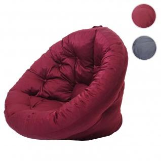 Sitzkissen HWC-D69, Sitzsack Matratze Sitzgelegenheit Lounge Kissen, multifunktional 75x115x90cm
