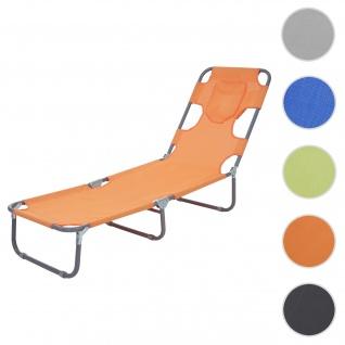 Sonnenliege HWC-B11, Relaxliege Gartenliege, Bauchliegefunktion Stoff/Textil klappbar