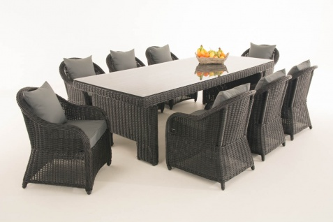 Garten-Garnitur CP065 XL, Sitzgruppe Lounge-Garnitur, Poly-Rattan - Vorschau 1