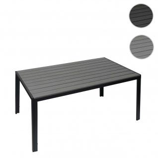 Gartentisch HWC-G12, Balkontisch Tisch, WPC Holzoptik Stahl 150x90cm