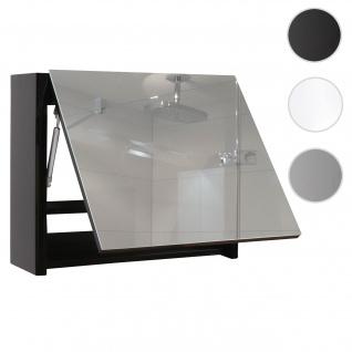 Spiegelschrank HWC-B19, Wandspiegel Badspiegel Badezimmer, aufklappbar hochglanz 48x59cm