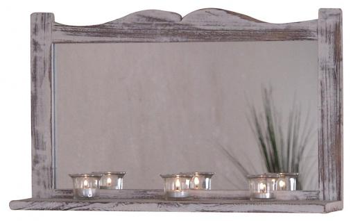 Wandspiegel H75, Spiegel, Shabby-Look Vintage, 35x58x12cm