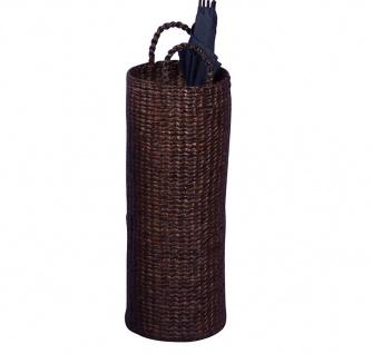 Schirmständer H42, Schirmhalter Regenschirmständer, mit Tropfschale, Wasserhyazinthe