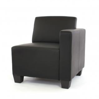 Modular Sofa Lyon Kunstleder schwarz