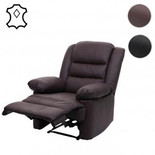 Fernsehsessel HWC-G15, Relaxsessel Liege Sessel, Leder + Kunstleder 103x83x91cm