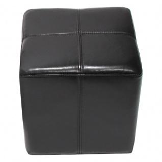 Sitzwürfel Hocker Sitzhocker Onex, Leder + Kunstleder, 36x36x36cm