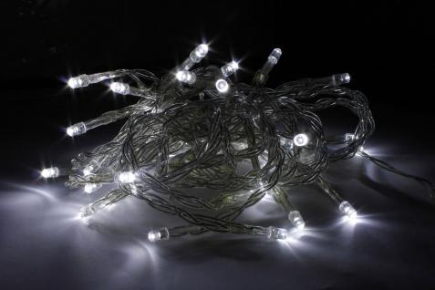 10x 10er LED Lichterkette LD06, Leuchtkette, batteriebetrieben, für Innen weiß