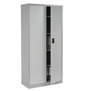 Aktenschrank Boston T130, Metallschrank Büroschrank, 47kg 2 Türen 180x85x40cm