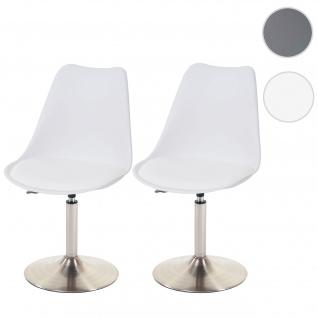 2x Esszimmerstuhl Malmö T501, Stuhl Küchenstuhl, höhenverstellbar drehbar, Kunstleder