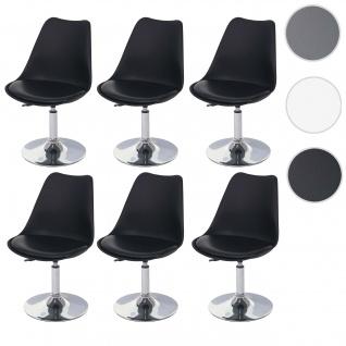 6x Drehstuhl Malmö T501, Stuhl Küchenstuhl, höhenverstellbar, Kunstleder