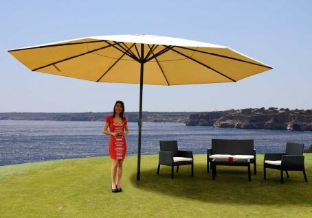 Alu-Sonnenschirm Meran Pro ohne Volant Ø 5m