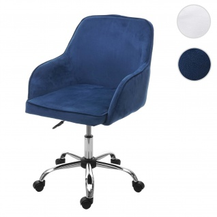 Bürostuhl HWC-F82, Schreibtischstuhl Chefsessel Drehstuhl, Retro Design Samt