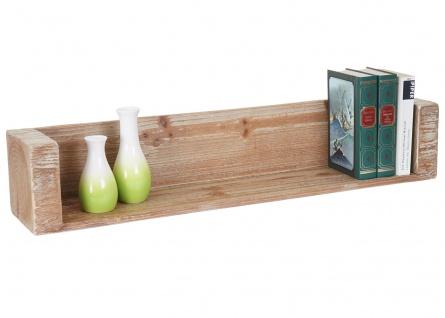 Wandregal HWC-A15, Hängeregal Bücherregal, Tanne Holz rustikal massiv