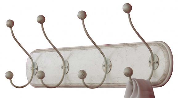 Wandgarderobe H57, Garderobenpaneel Garderobe, 20x70x11cm